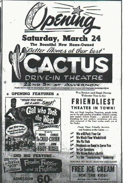 cactus drive in flyer